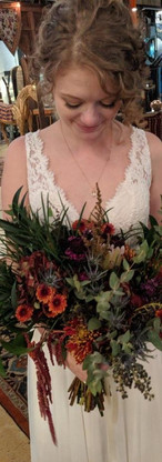 Fall Bridal with Protea