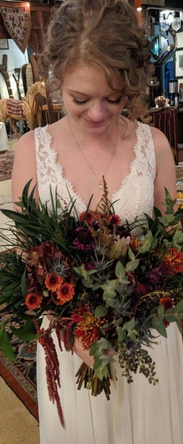 Fall Bridal with Protea