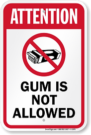 attention-gum-is-not-allowed-sign-k2-187