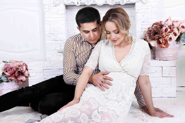 """Фотосесия беременности - """"Общение с будущим сынишкой"""""""