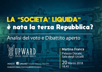 """Martina Franca: dibattito sulla """"società liquida"""""""