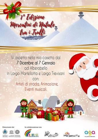 «Mercatini di Natale tra i trulli», da oggi a domenica in largo Martellotta e largo Trevisani