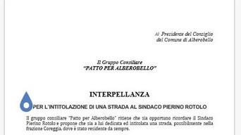 Coreggia: in consiglio comunale la proposta de L'Occhiazzurra in onore di Pierino Rotolo