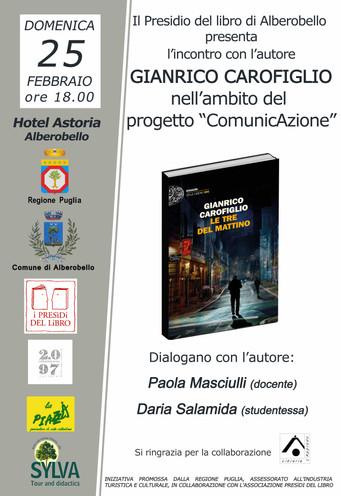 """Gianrico Carofiglio presenta """"Le tre del mattino"""""""