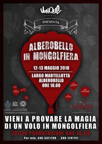 Alberobello in Mongolfiera, il 12 e 13 maggio si volerà sui trulli