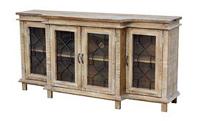 Wood Hutch With Iron Details
