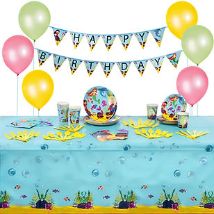 mermaid party supplies pack with 6 ballo