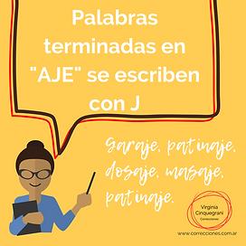 ortografía como se escribe aje