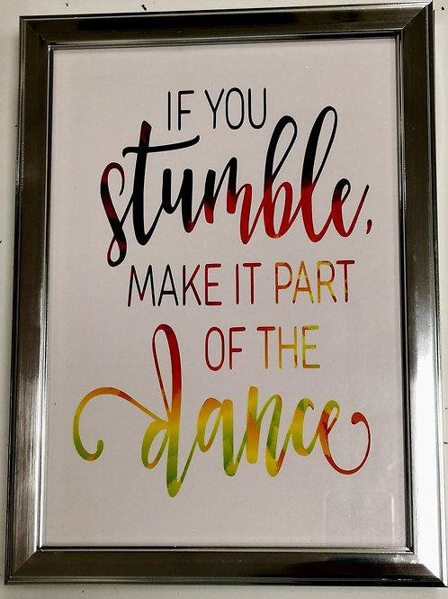 'Stumble' Rainbow Print