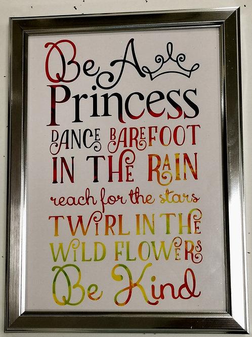 'Be a Princess' Rainbow Print