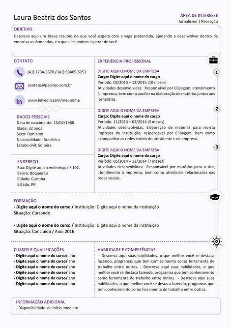 Currículo Roxo, Cinza e preto - REF:MCV077