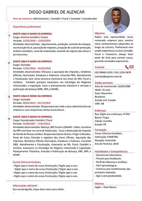 Currículo vermelho e preto - REF: MCV064