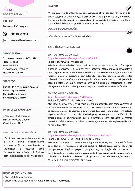 Currículo Rosa e Cinza Claro - REF: MOD09
