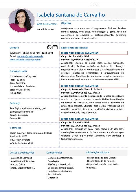 Currículo azul claro e cinza - REF: MCV063