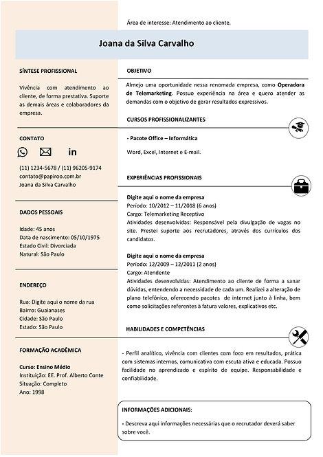 Currículo Azul e Rosa - REF:MOD01