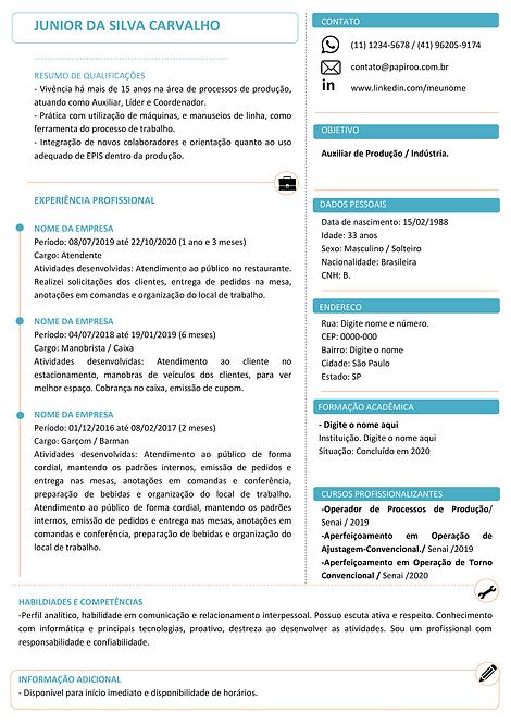 Currículo Azul e Laranja - REF: MOD13
