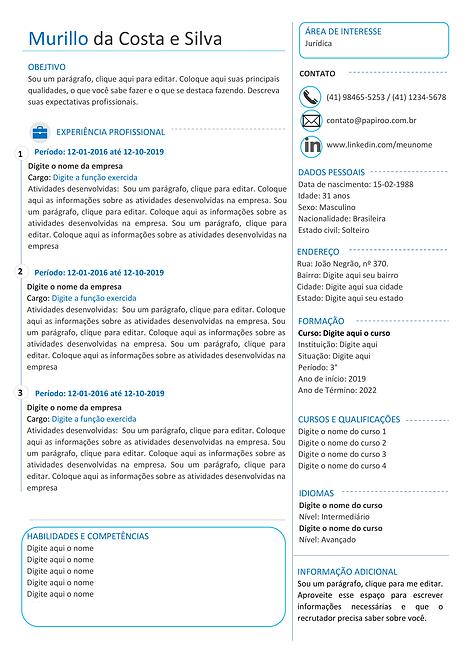 Currículo azul e cinza escuro - REF: MCV068