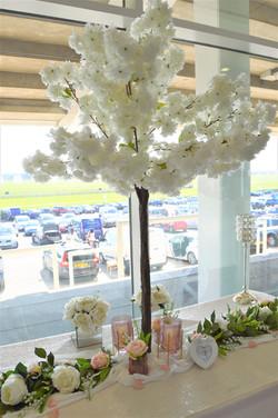 ivory /cream 140cm blossom trees