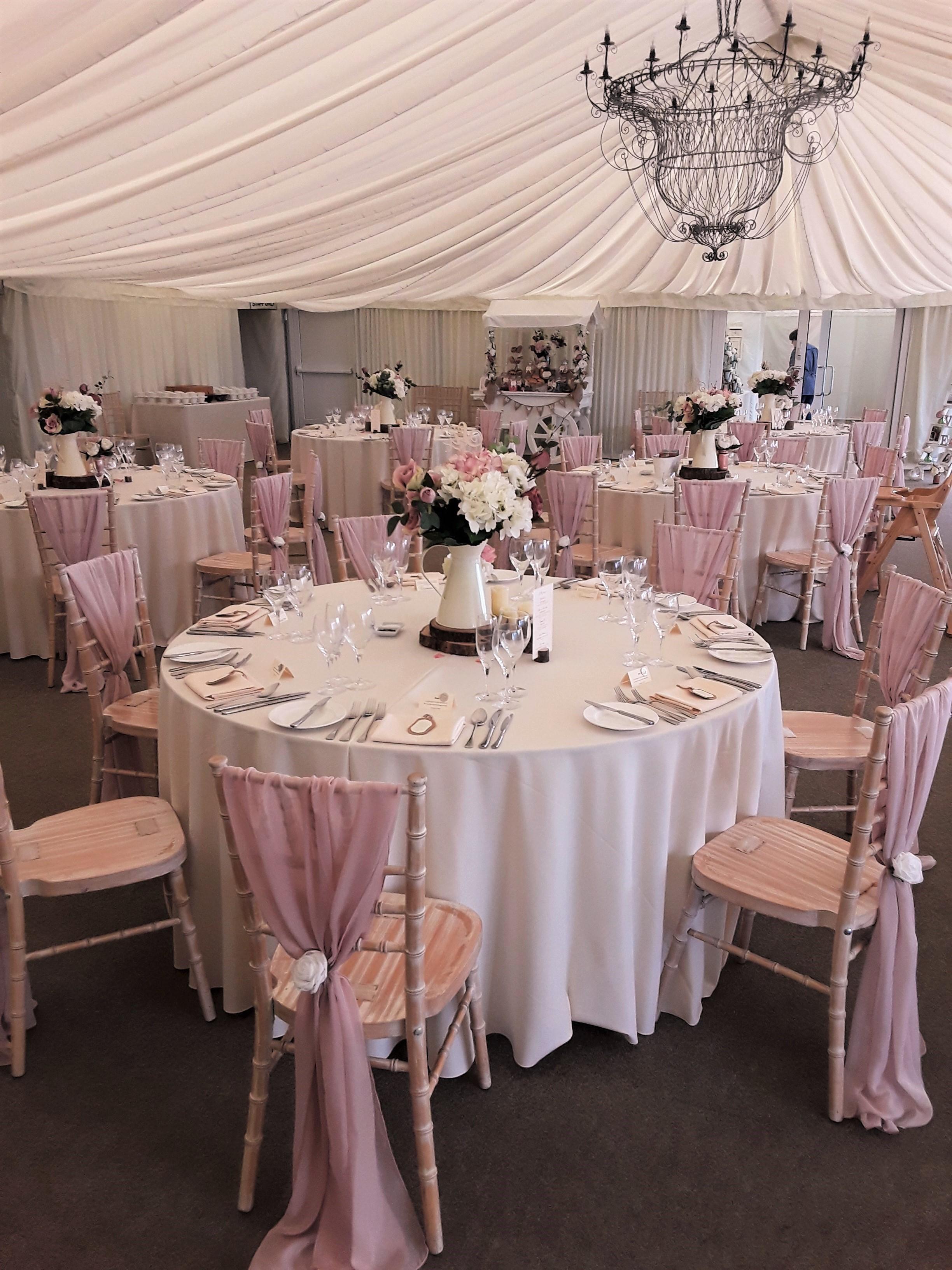 soft pink chiffon drapes