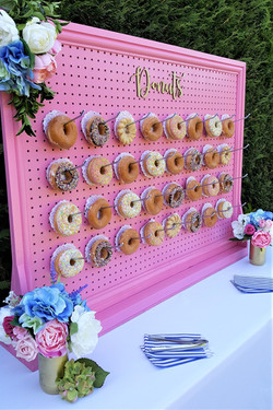 Large candy pink donut wall