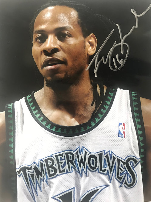 Autographed Troy T-HUD Hudson sponsorship picture