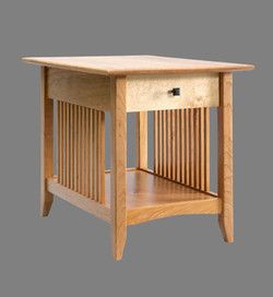 Cherry With Birds Eye Maple Drawer Front