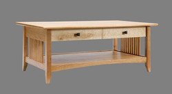 Cherry With Birds Eye Maple Drawer Fronts