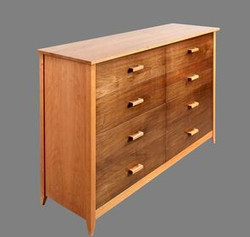 Cherry With Walnut Drawer Fronts