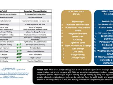 Adaptive Change Design vs SAFe 5.0