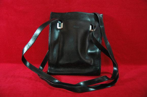 Vintage Fabıanı Siyah Deri Çanta