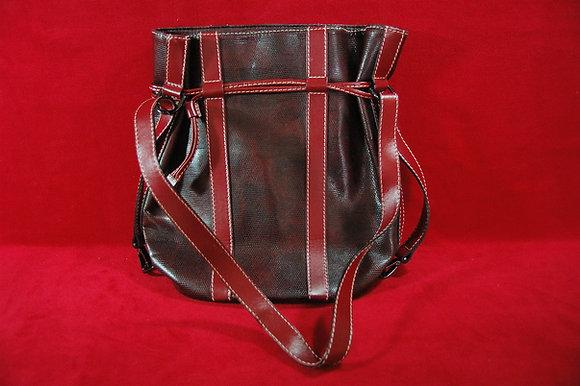 Deri Lance Paris(Kırmızı ,kahve)Çanta