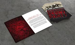 Mountaineer Casino Kentucky Derby party invitation