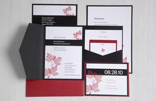 Alicia & B.K. wedding invitation enclosure