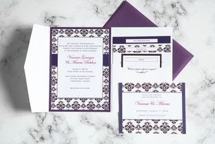 Vanessa & Marcus wedding invitation enclosure