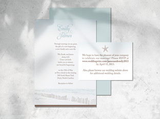 Emily James wedding invitation
