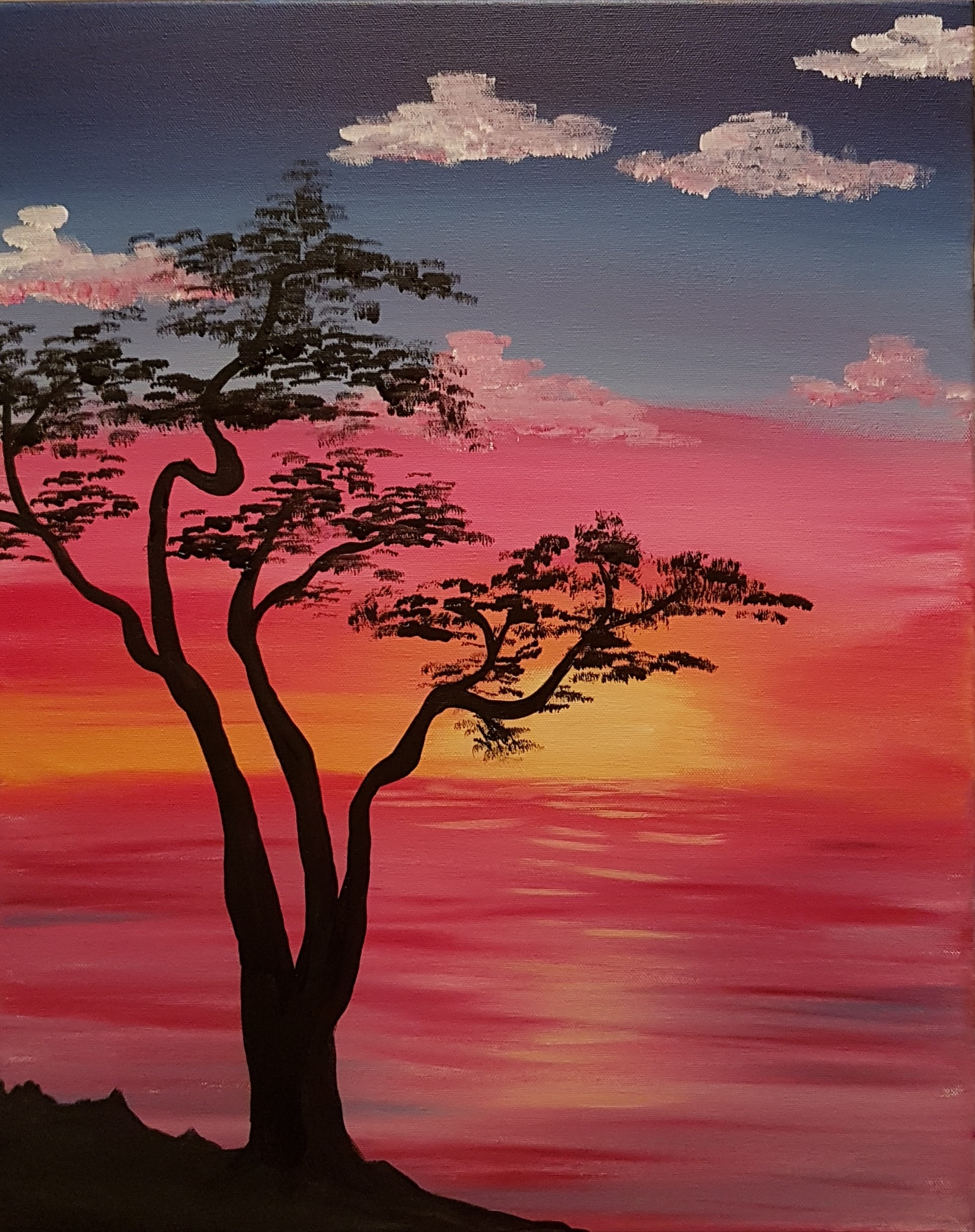 Bonsai Tree Sunset