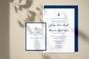 Jocelyn & Fernando wedding invitation