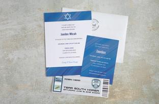Jaeden bar mitzvah invitation