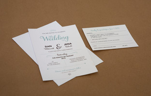 Jena & Dan wedding invitation