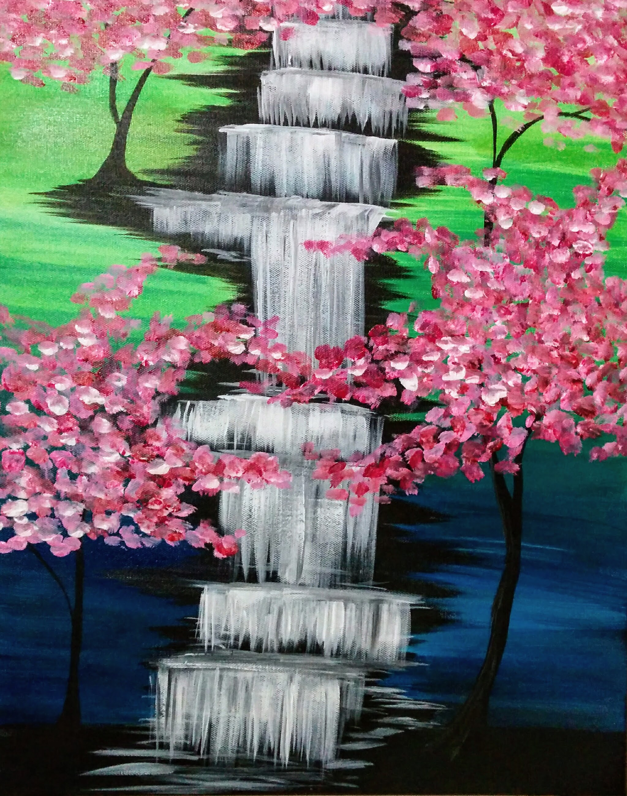 Cheery Blossom Waterfalls