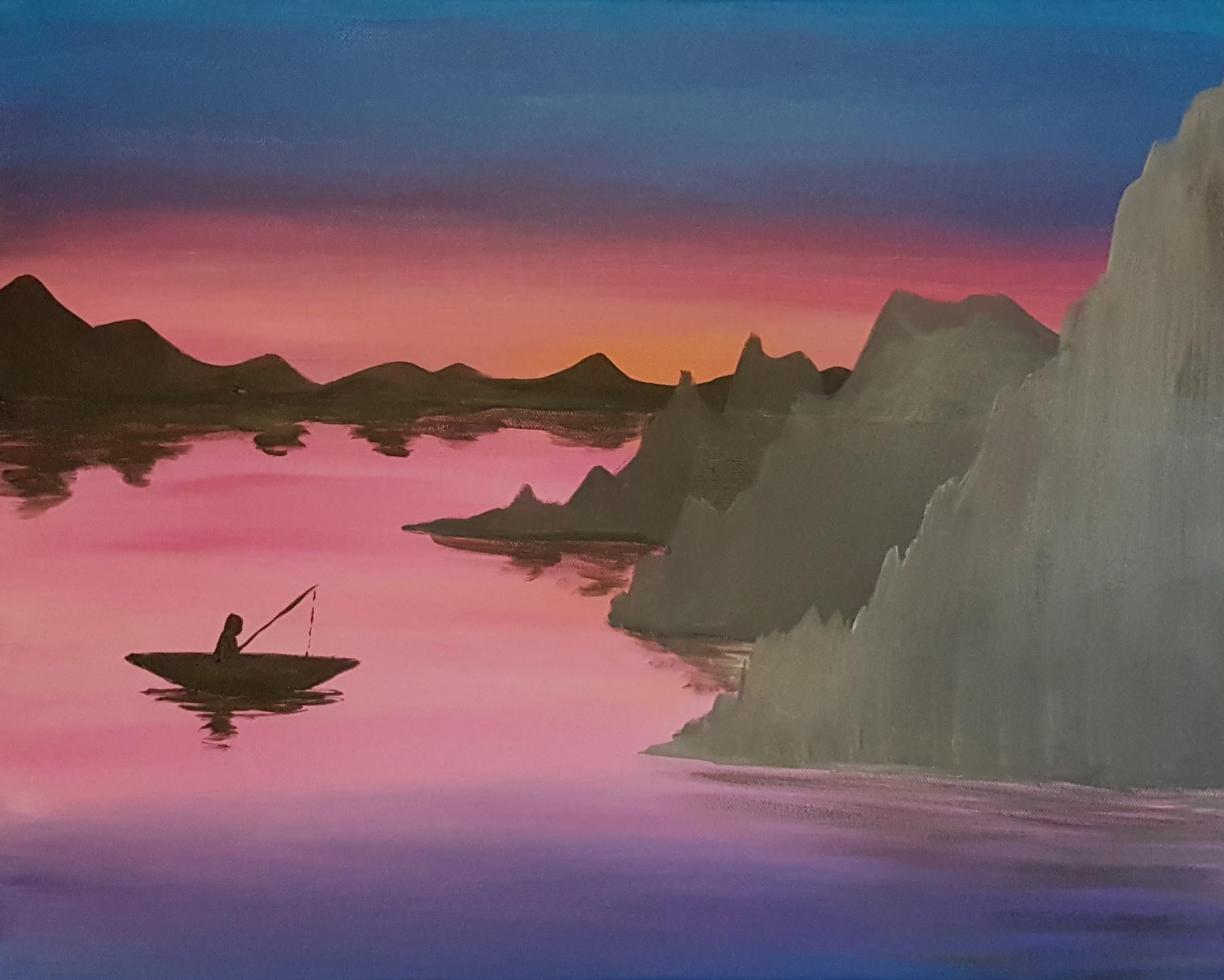 Japenese Sunset Fishing