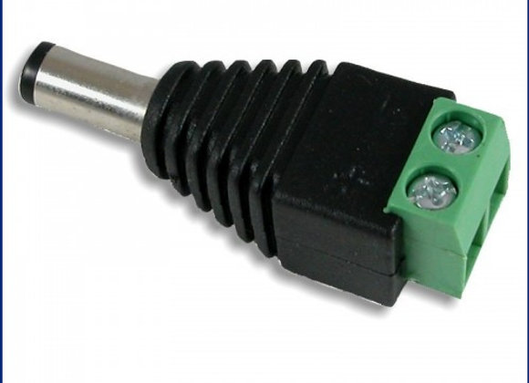 Conector/adaptador Plug Macho Alimentacion 12v