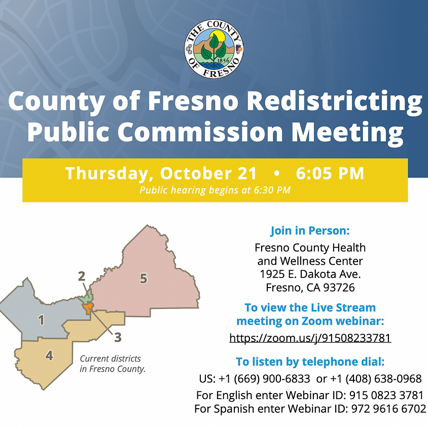 County Redistricting Meeting