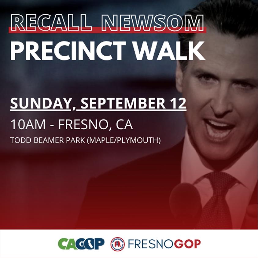 Recall Newsom Precinct Walk - Fresno 9/12