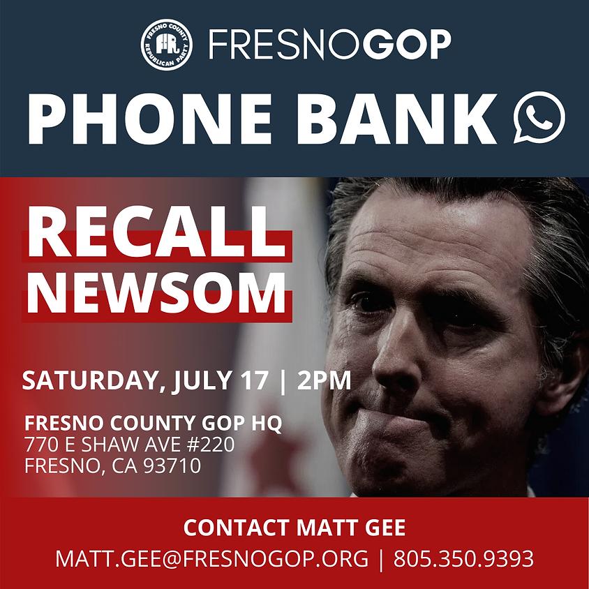 Recall Newsom Phone Bank
