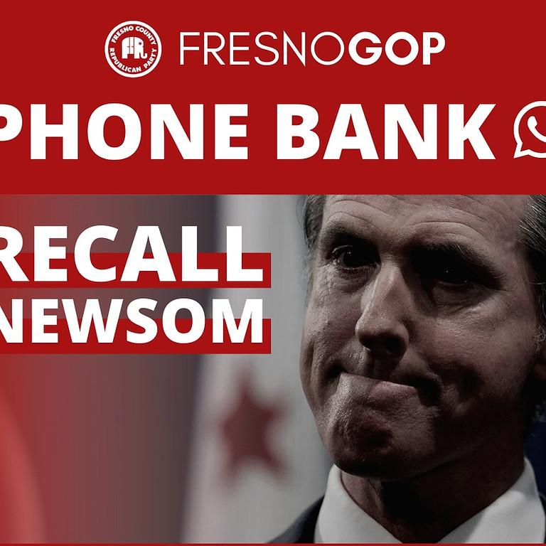 Recall Newsom Phone Bank 8/3