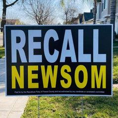 Recall Yard Sign
