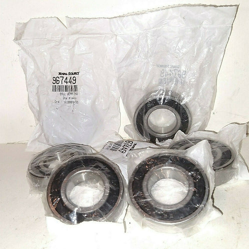 7 NEW TOTAL SOURCE 967449 RUBBER SEALED BALL BEARINGS 6205RS