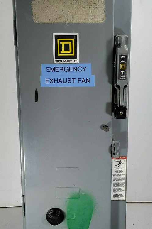 USED SQUARE D 8538SCG11V02S COMBINATION STARTER 30A SER. D