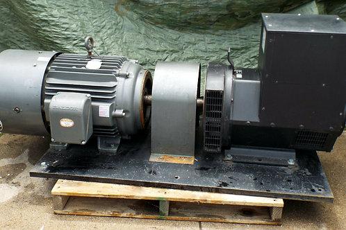 USED WINCO STAMFORD 2-BRG GENERATOR w/ BALDOR ZDM4316T VECTOR DRIVE MOTOR